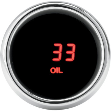 GAUGE OIL PRES FLHT 96RED