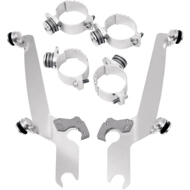 NO-TOOL TRIGGER-LOCK MOUNT KITS FOR MEMPHIS SHADES FATS/SLIM AND SPORTSHIELD WINDSHIELDS