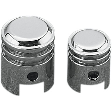 Chrome Piston Valve Stem Covers - Front