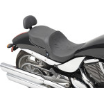Low profile touring seats with removable passenger backrest