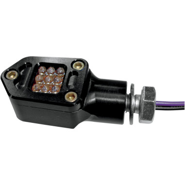 LED SQUARE MRKR LITE BLK