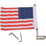 EXTENDED-STYLE LUGGAGE RACK FLAG MOUNTS WITH FLAG