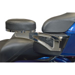 Billet passenger armrests for Tour Pak