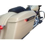 Lighted saddlebag hinge covers