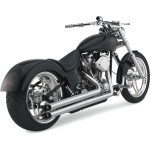 LONGSHOTS HS 2-INTO-2 EXHAUST SYSTEM FOR SOFTAIL SECTION