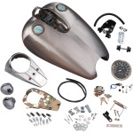 GAS TANK KITS FOR 54-78, & 82-99 XL, EXTENDED RUBBER-MOUNT QUICKBOB