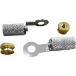Brass nuts, nickel-plated ring terminals