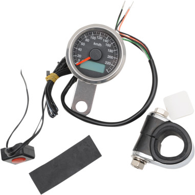 140 MPH PROGRAMMABLE MINI ELECTRONIC SPEEDOMETERS WITH ODOMETER/TRIPMETER