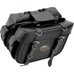 9698P Extra Large Box Style Detachable Slant Saddlebags