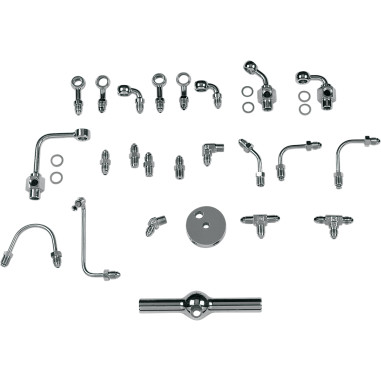UNIVERSAL  BRAKE LINES AND CHROME STEEL FITTINGS