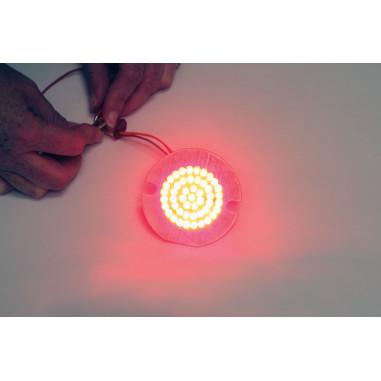 BULB LED RED 1157 FLAT