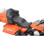 FORWARD POSITIONING LARGE TOURING SEATS THAT ACCEPT FRAME MOUNTED BACKRESTS