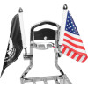 SQUARE SISSY BAR FLAG MOUNTS WITH FLAG