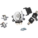 Side hinge ignition switch and saddlebag lock kits