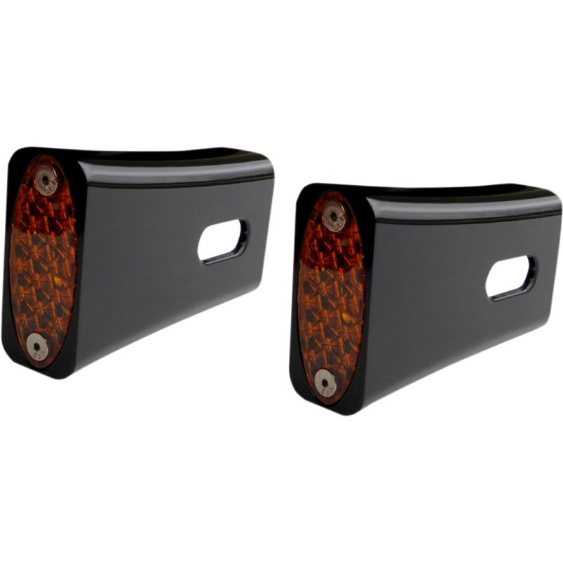 Pro One Black Red LED Rear Strut Marker Lights for 86-18 Harley Dyna Touring XL