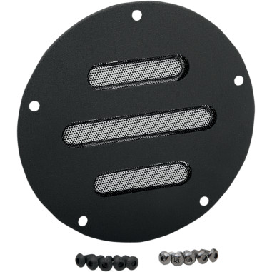 COVER DRBY BLK SLOT 5HOLE