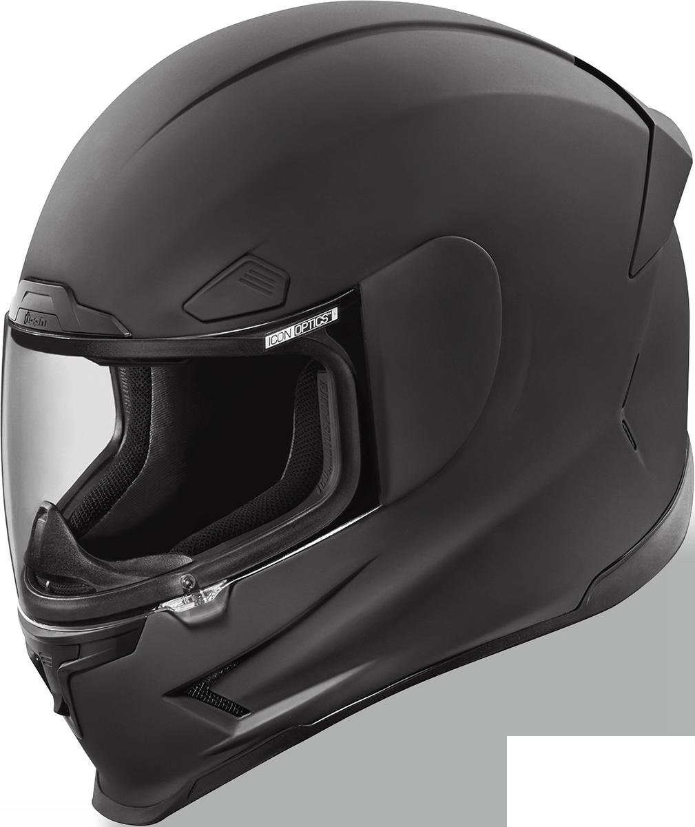 Icon Black Airframe Pro Rubatone Full Face Motorcycle Street Racing Helmet DOT