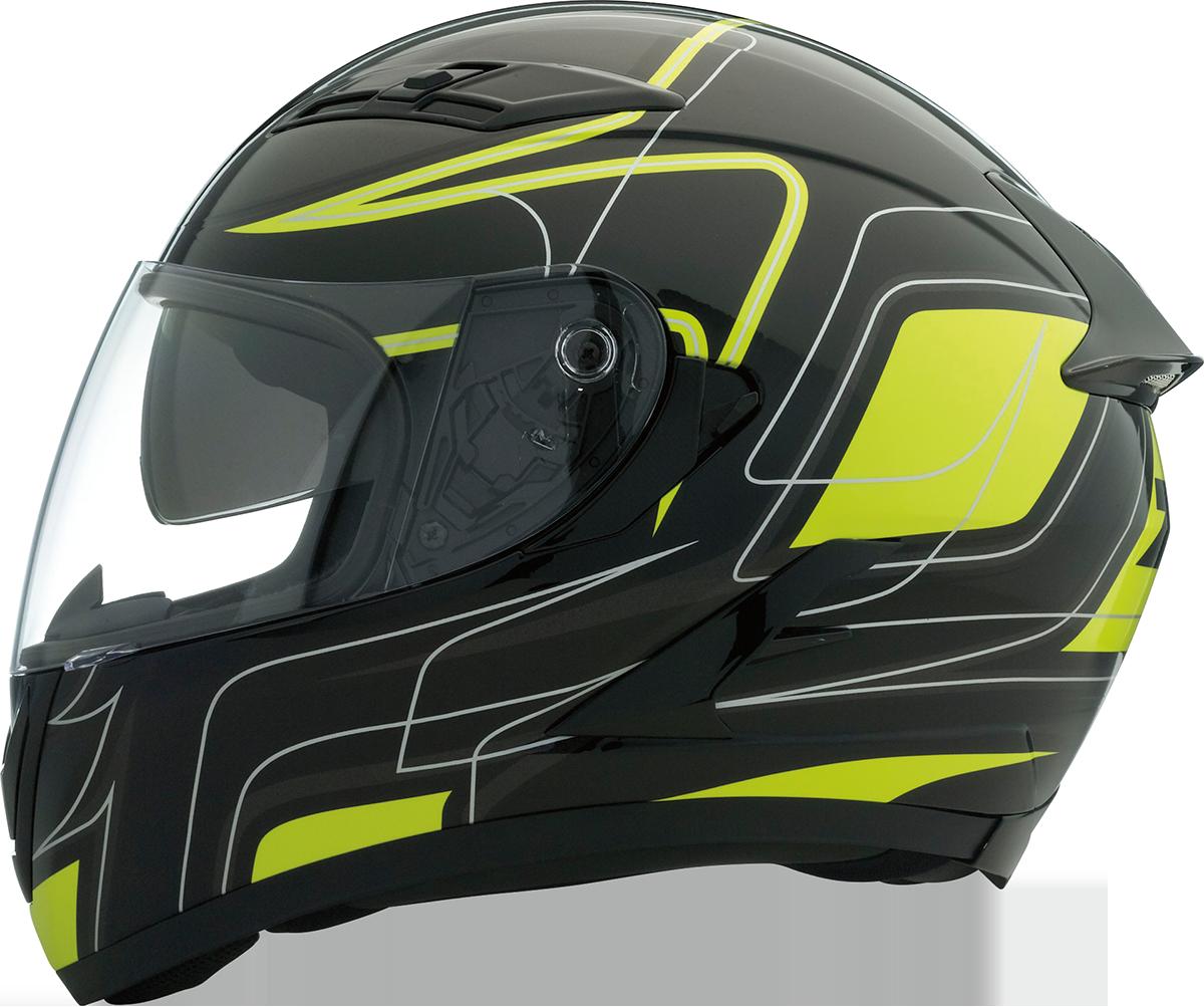 Z1R Unisex Black Yellow Strike Ops Full Face Motorcycle Riding Street Helmet