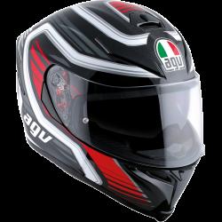 Agv Unisex Gloss Black Red K5 Full Face Motorcycle Riding Street Racing Helmet