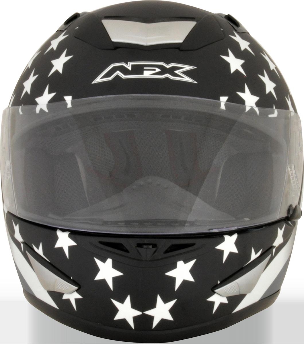 AFX Black Full Face Stealth American Motorcycle Riding Street Racing Helmet
