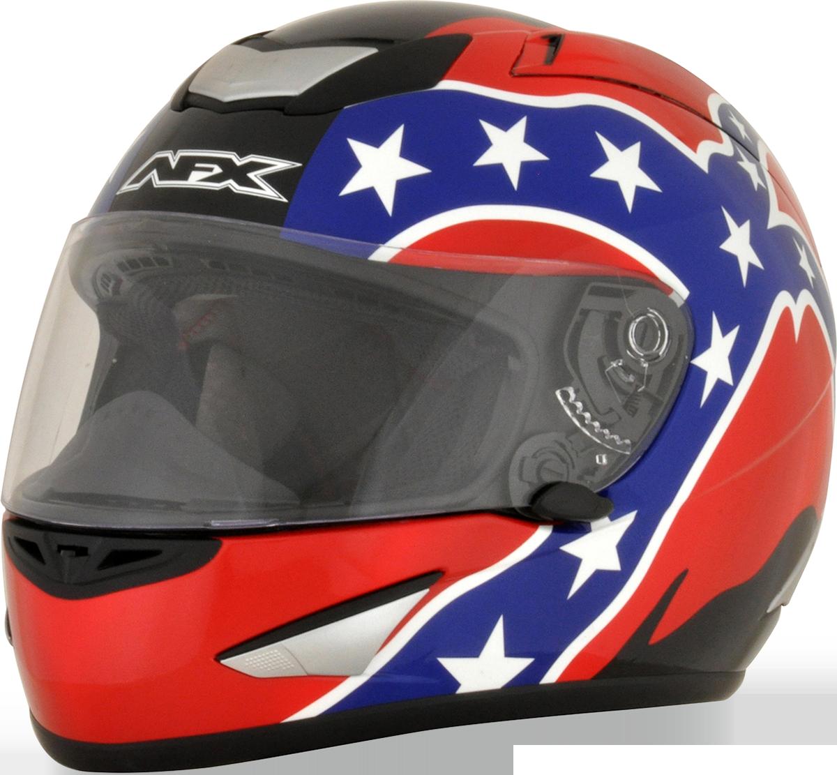 AFX Red Unisex Rebel Flag Motorcycle Full Face Riding Street Racing Helmet