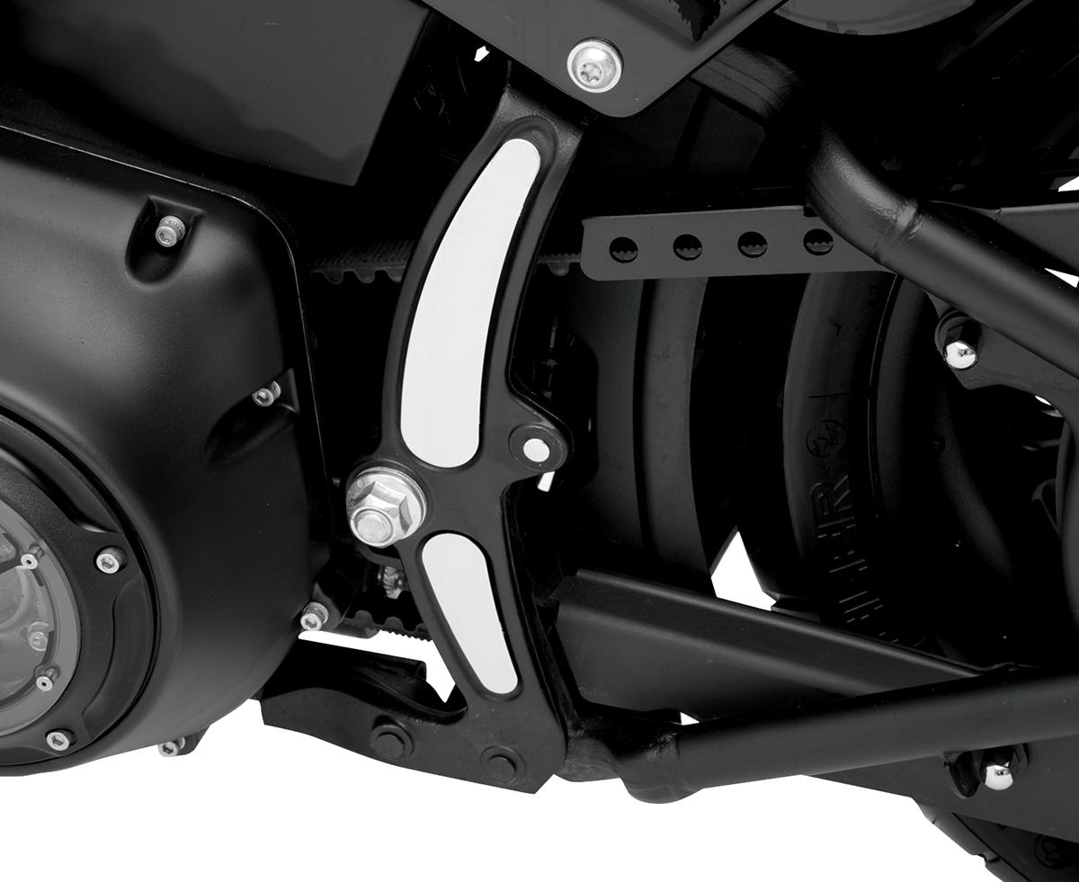 4 Pcs Chrome Curved Swingarm Frame Inserts For Harley Davidson Softail 08-2017