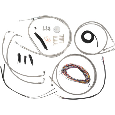 COMPLETE BRAIDED STAINLESS HANDLEBAR CABLE/WIRE EXTENSION