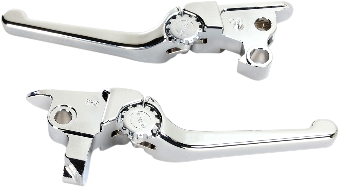 Powerstands Racing Chrome Handlebar Hand Lever Set 08-16 Harley Touring FLHR