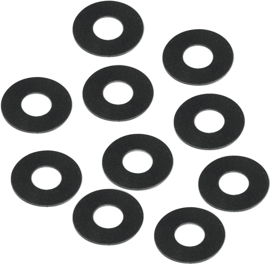 "S&S Cycle Black Single 3/8"" Carburetor Breather Steel Washer Harley Davidson"