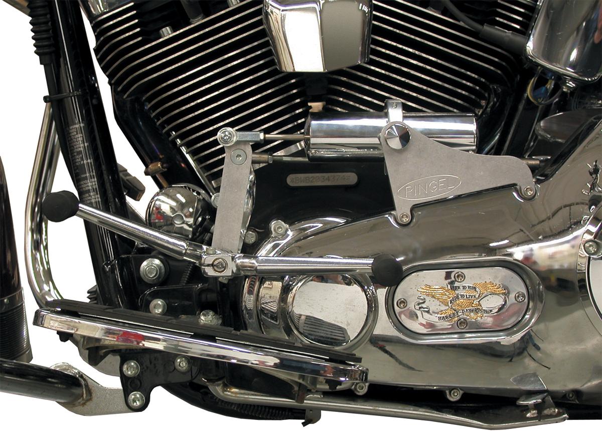 Pingel Chrome Electronic Easy Shifter Kit 00-06 Harley Softail FLSTF FXST FLSTN