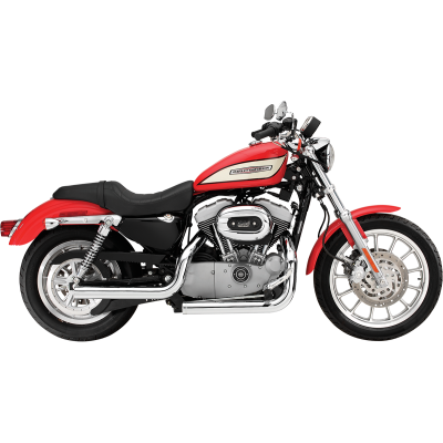 SuperTrapp (138-72202) Mean Mothers Full Exhaust System Staggered - Chrome Harley Davidson Sportster XL1200 / XL883  2004-2013