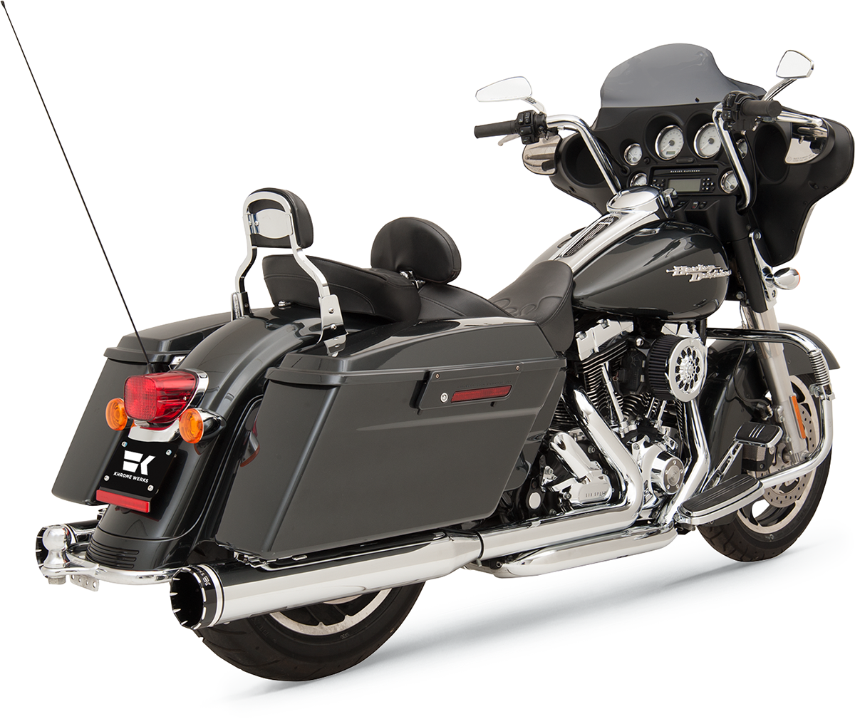 Khrome Werks Chrome Crossover Exhaust System 09 16 Harley