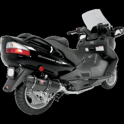 Yoshimura 2007-2012 Suzuki Burgman 650 R77 Full Exhaust System SS / CF CF Tip (1190002)