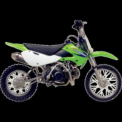 Yoshimura 2002-2014 Kawasaki KLX110 / 2002-2010 Suzuki DRZ110 RS2 Full Exhaust System SS / CF (2430522)