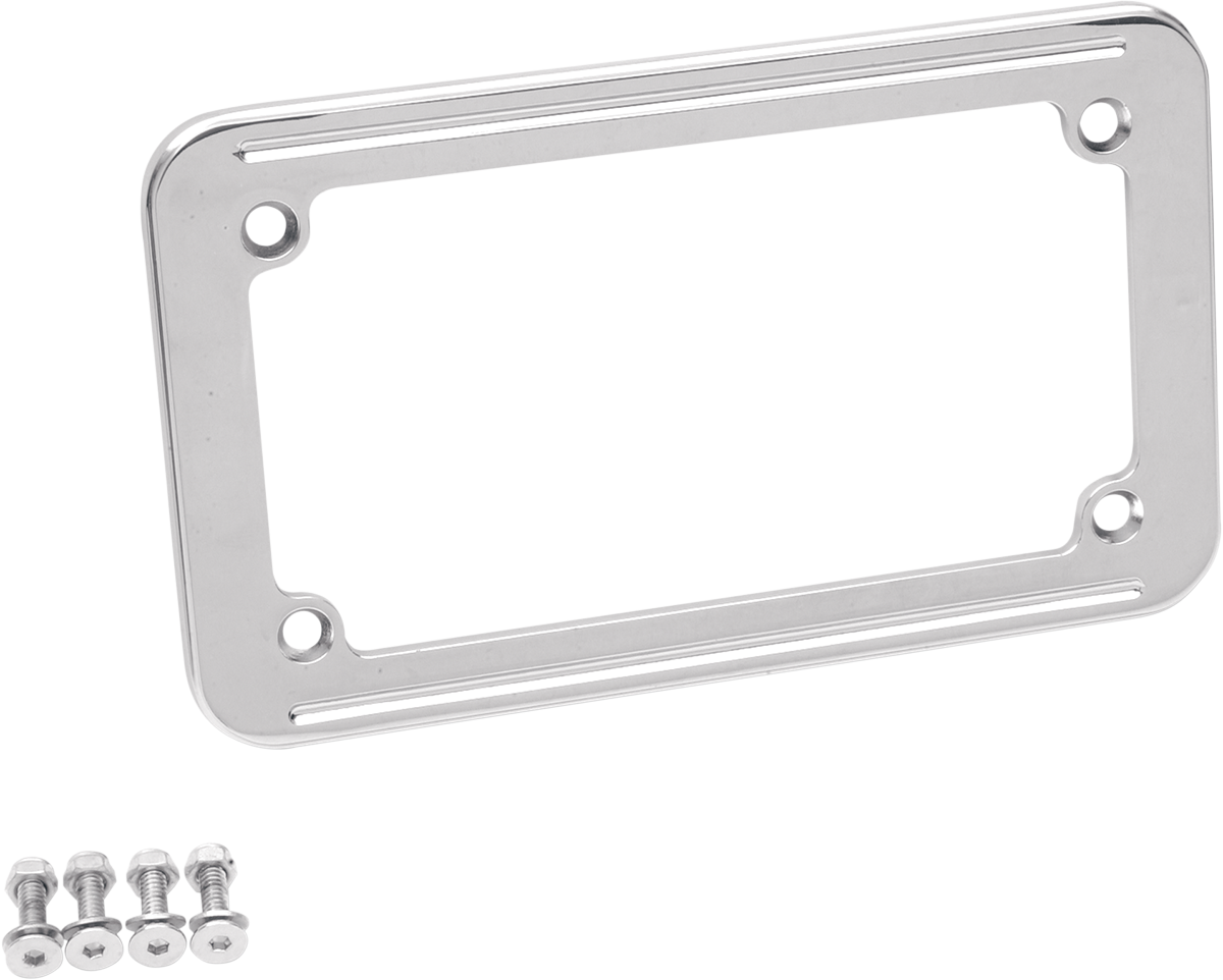 "Drag Specialties Chrome 4"" X 7"" Universal License Plate Frame Harley davidson"