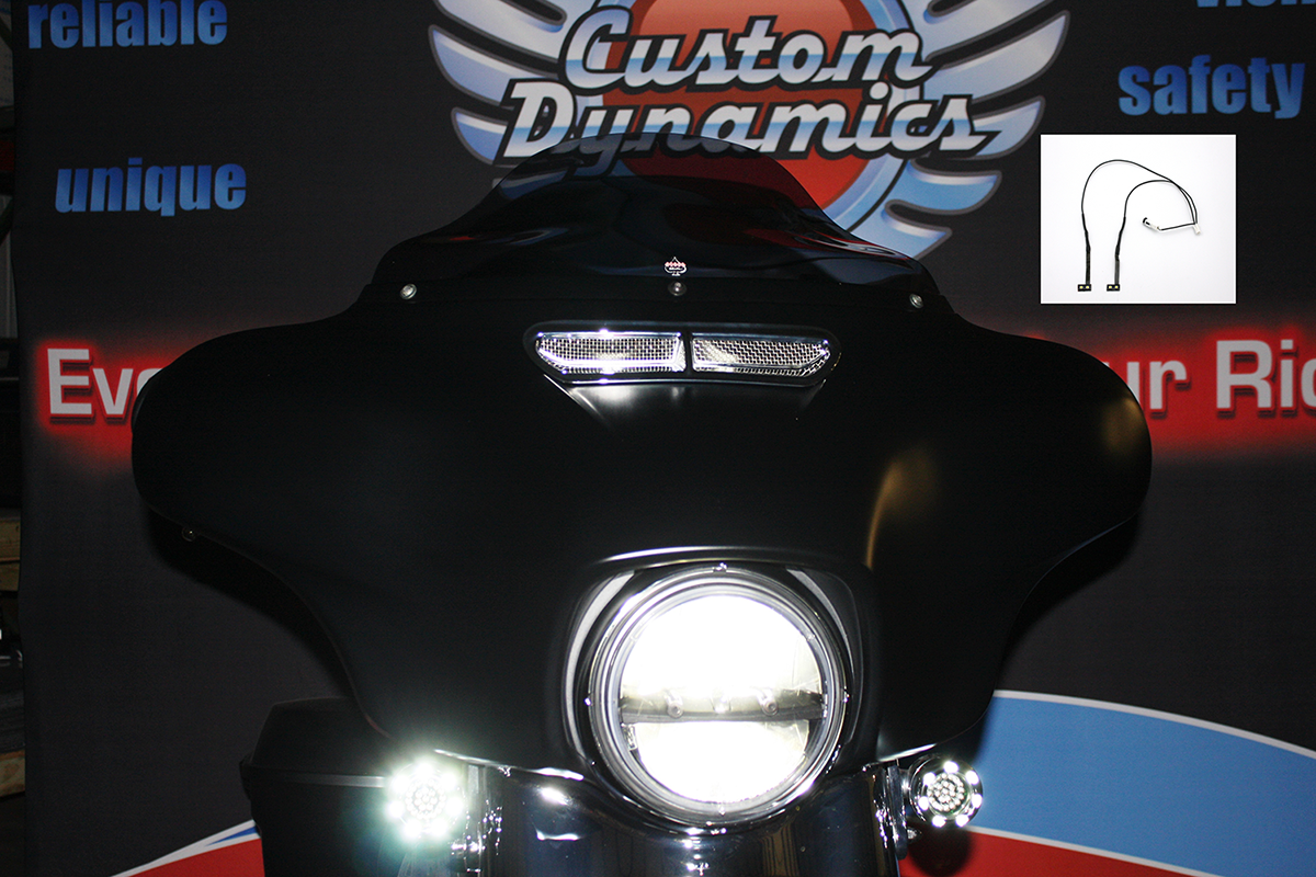 Custom Dynamics White Led Front Fairing Vent Light Kit 14
