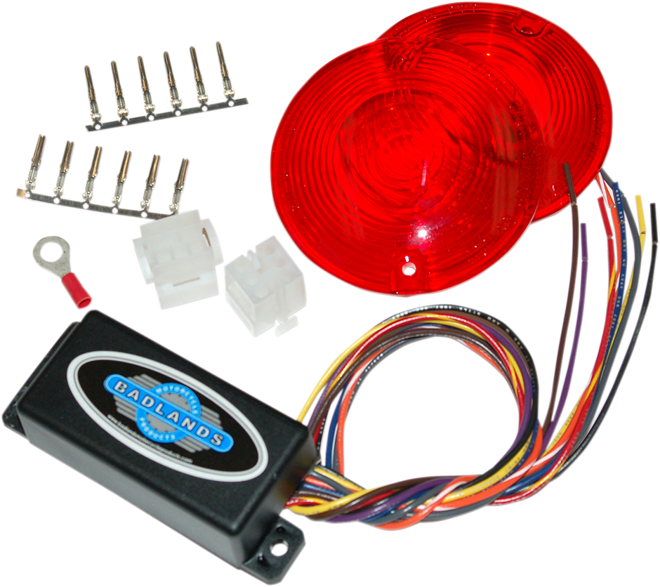badlands 6 pin plug in turn signal module red lenses 86 96. Black Bedroom Furniture Sets. Home Design Ideas