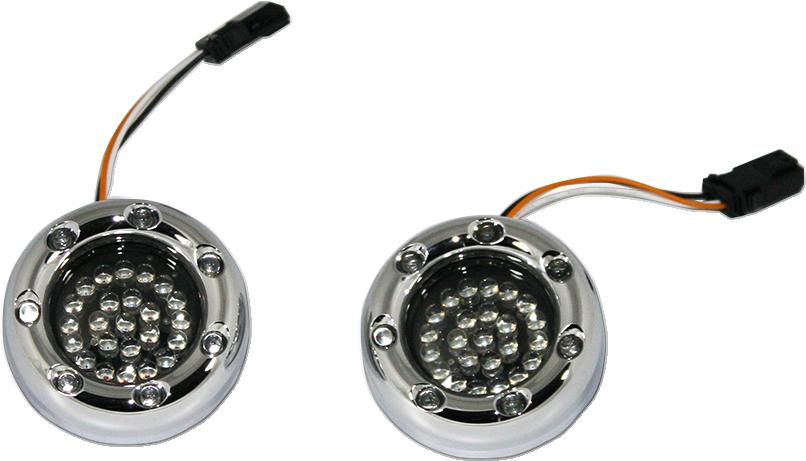 Custom Dynamics Smoke Amber White JAE LED Turn Signals Harley FLHX CVO Models