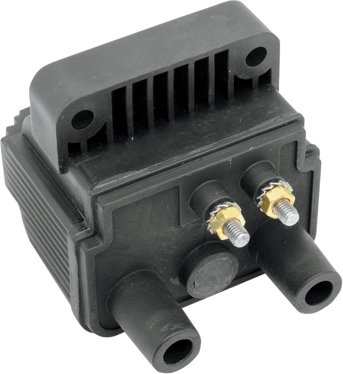 Drag Specialties Black 3 OHM 12V Dual Motorcycle Ignition Coil Harley Davidson