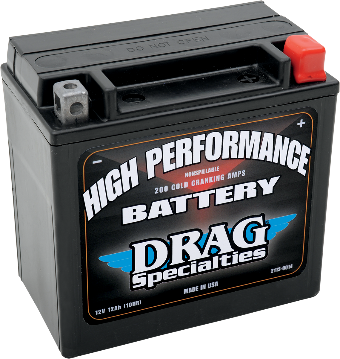 drag specialties 12v maintenance free battery 04 18 harley. Black Bedroom Furniture Sets. Home Design Ideas