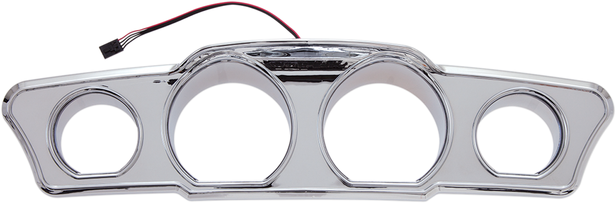 Ciro Chrome Motorcycle Inner Fairing LED Dash Accent 14-19 Harley Touring FLHX