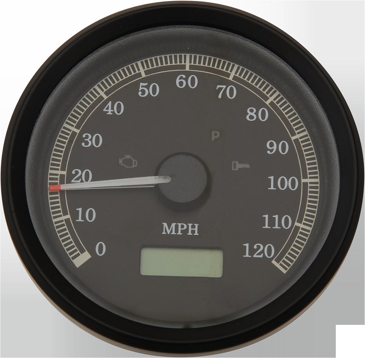 Specialties: Drag Specialties Black Electronic Speedo Speedometer 99-03