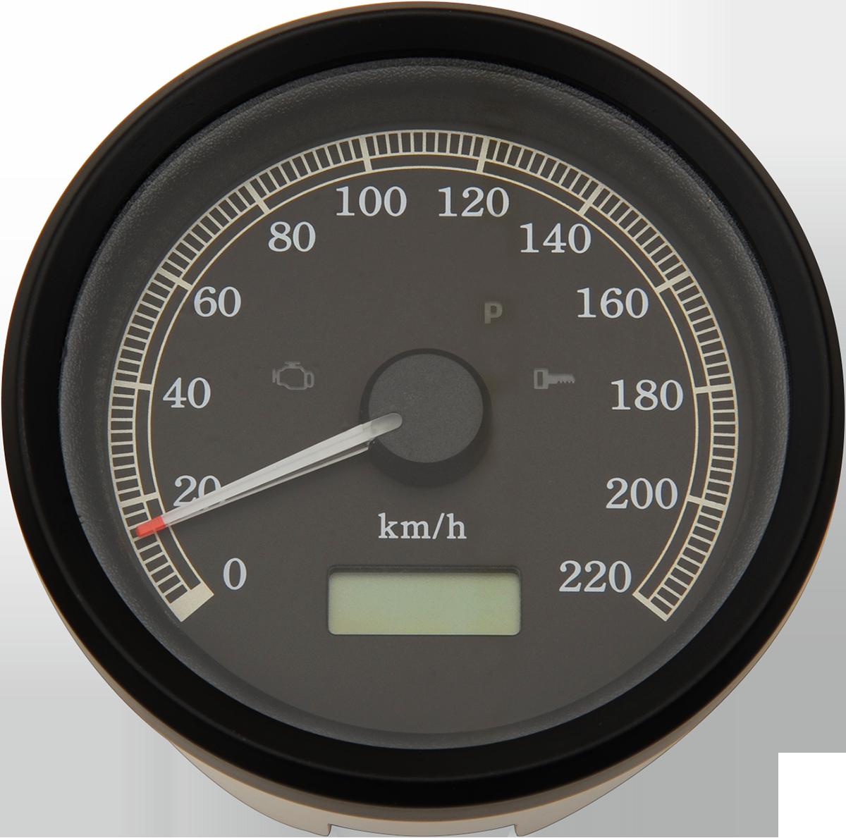 Specialties: Drag Specialties Electronic KMH Speedo Speedometer 99-03