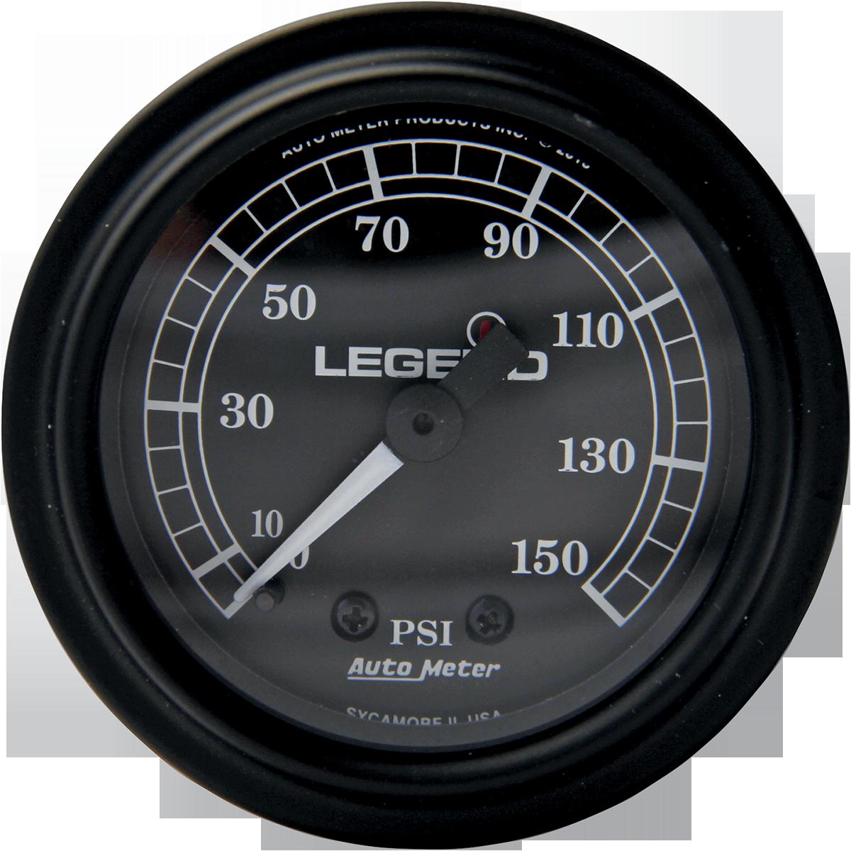 Legends black front fairing psi air pressure gauge harley