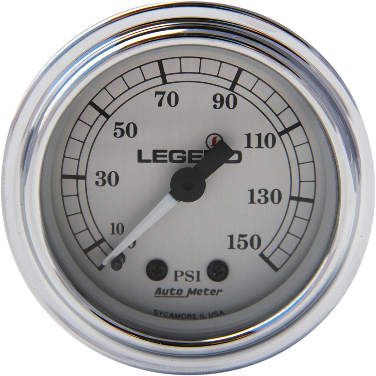 Legends chrome front fairing air pressure psi gauge harley