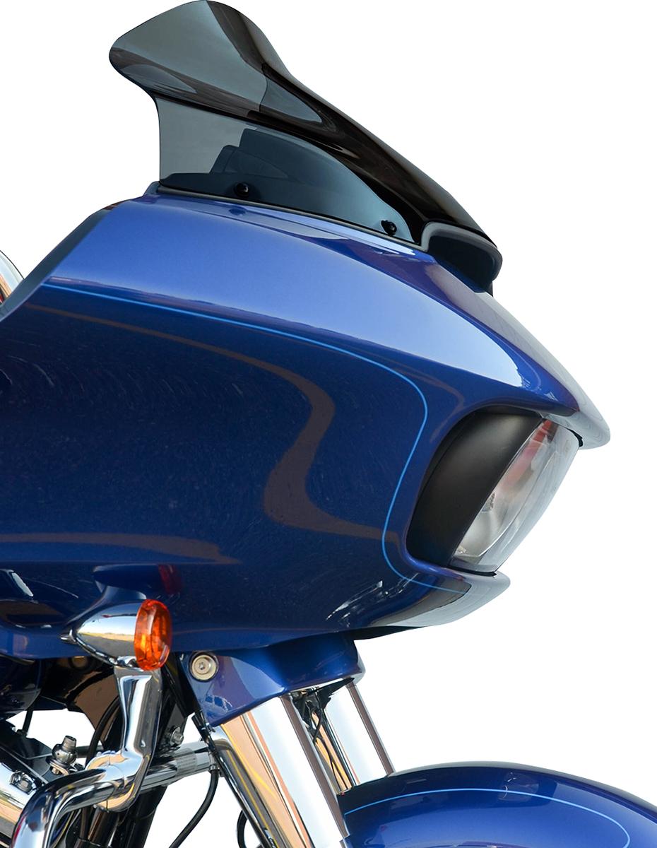 "Klock Werks 14"" Dark Smoke Motorcycle Flare Windshield 15-20 Harley Touring"
