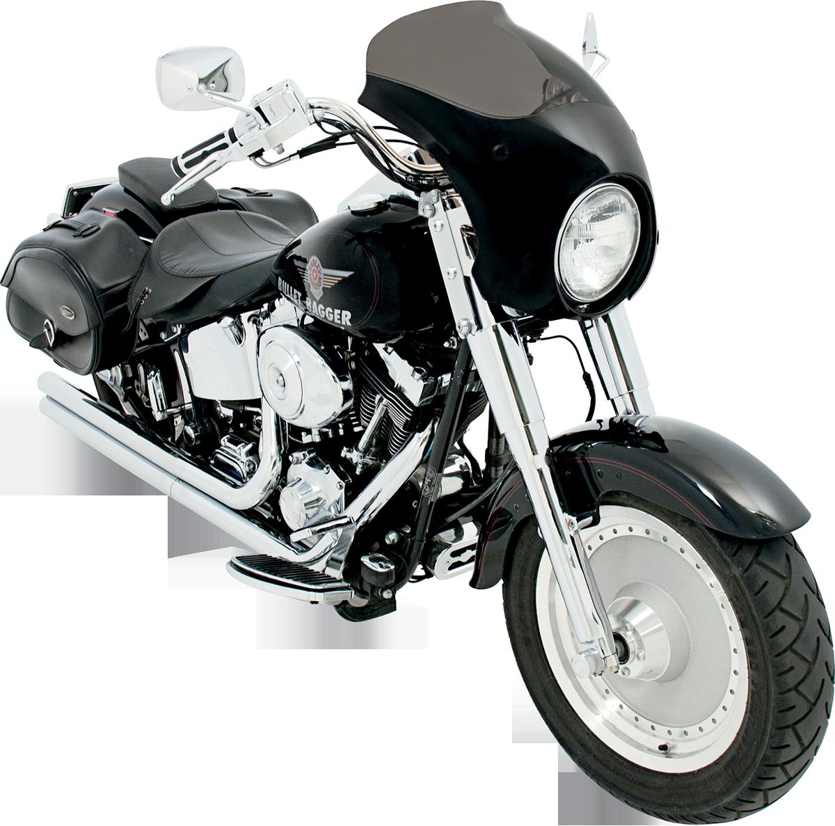 Memphis Shades HD Black Bullet Fairing 86-17 Harley Davidson FLSTN FLSTF FLST