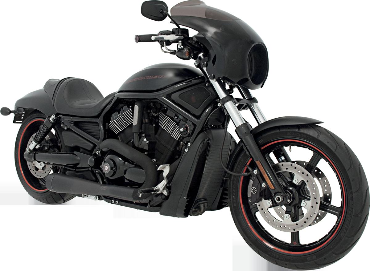 Memphis Shades Night Rod Bullet Fairing & Black Mounts 07-11 Harley ...