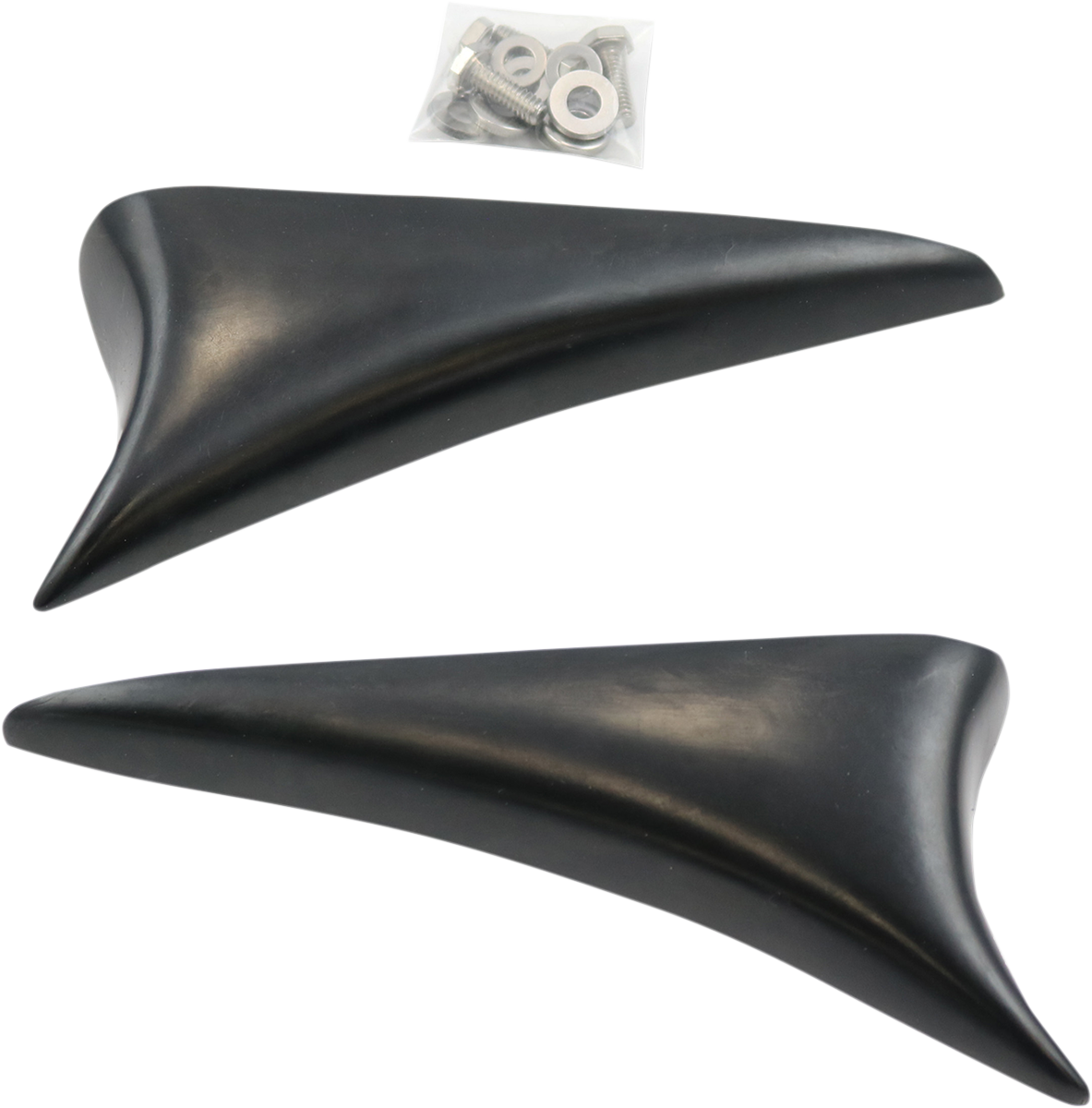Paul Yaffe Black Plastic Front Wing It Fairing Flares 15-18 Harley Touring FLTRX