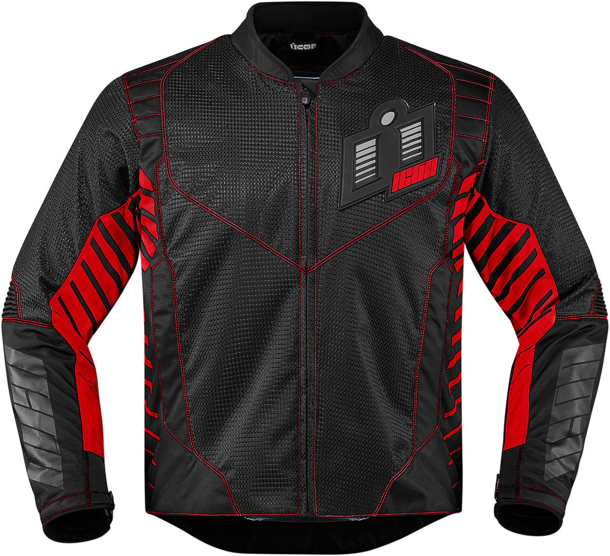 Mens Icon Red Textile Wireform Motorcycle Riding Street Racing Jacket Harley